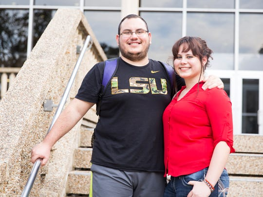 Siblings from Cuba, Andy and Jany Labrada Gonzalez, are also LSU students July 18, 2016.