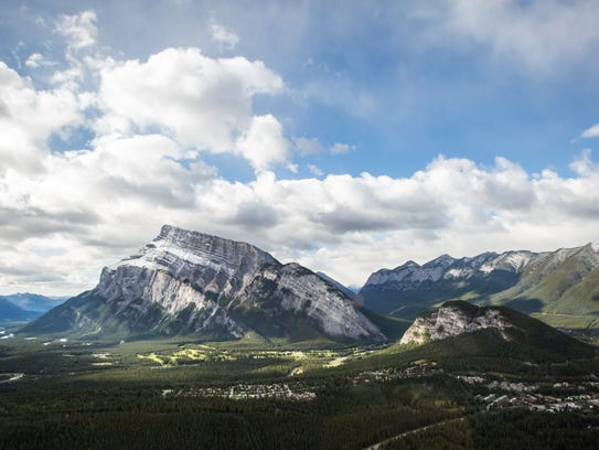 Massive Mount Rundle is one of the most photographed