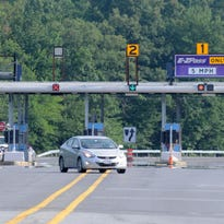 The New York State Thruway toll plaza in Kingston.