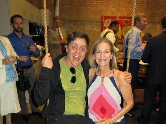 Brandon Oldenburg and Elizabeth Enochs at book signing.