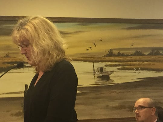 Donna Bozza, executive director of Citizens for a Better Eastern Shore, speaks during the Accomack County Board of Supervisors meeting on Wednesday, Feb. 21, 2018 in Accomac, Virginia.