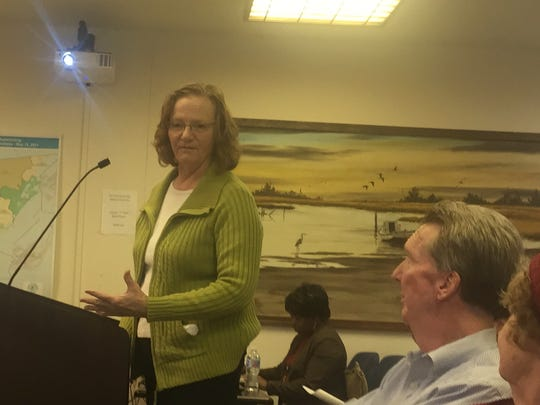 Lynn Rogers speaks during the Accomack County Board of Supervisors meeting on Wednesday, March 21, 2018 in Accomac, Virginia.