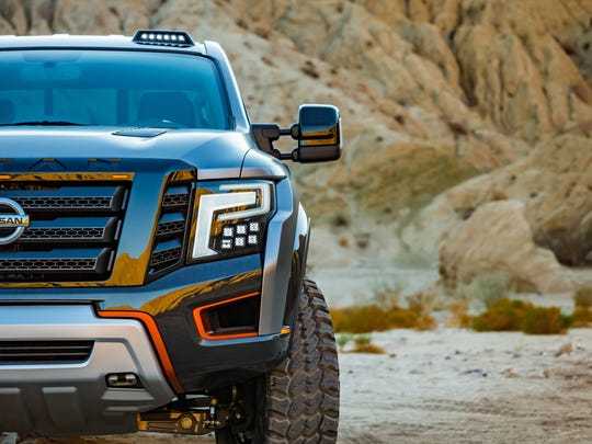 The Nissan Titan Warrior concept vehicle, revealed at the 2016 Detroit auto show.