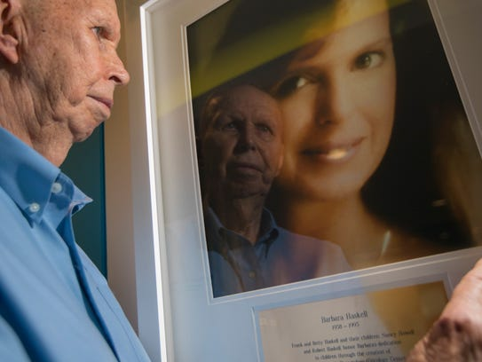 Frank Haskell reflects on an image of his daughter