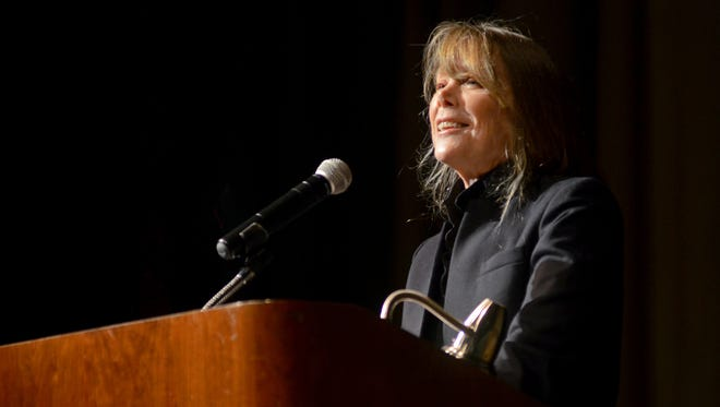 Actress Sissy Spacek talks about her childhood in Texas Monday, Nov. 9, during the Town Hall speaker series at McMorran Theatre.