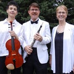 The husband-and-wife combo of violist Ellen Olson and oboist Eric Olson, from left, join pianist Judith Jackson for a Peninsula Music Festival February Fest concert on Feb. 20.