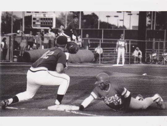 Former UL outfielder Ruben Rodriguez dives back to