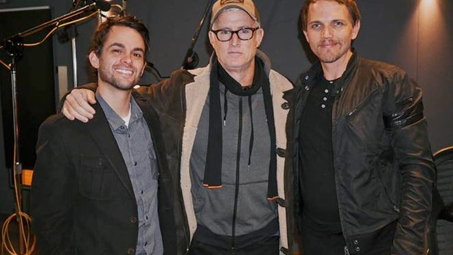 Cameron Trejo, John Slattery, Dagen Merrill, taken at Harbor Pictures in New York City.
