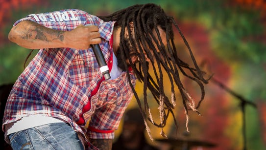 Ky-Mani Marley performs during Reggae on the Mountain