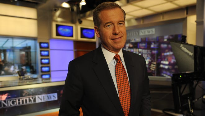NBC Nightly News anchor Brian Williams, on the set of his TV show, March 4, 2013.