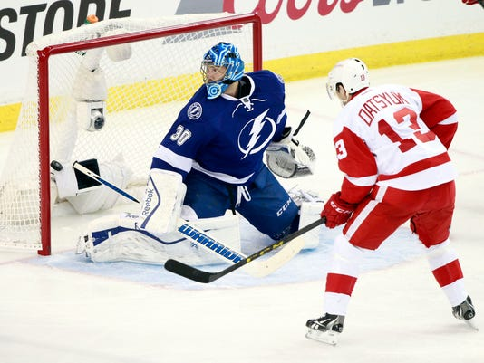 NHL: Stanley Cup Playoffs-Detroit Red Wings at Tampa Bay Lightning