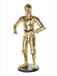 "This is a life-size model of C-3PO, from the ""Star"