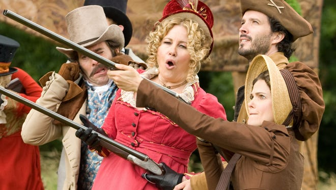 """Jennifer Coolidge and Keri Russell take up arms in the Jane Austen-themed romantic comedy """"Austenland."""""""
