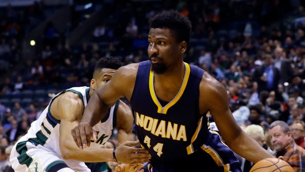 In this April 13, 2016, file photo, Indiana Pacers'