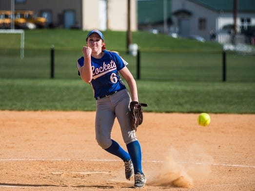 Spring Grove's Julia Wivell pitches during the game