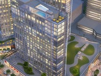 Rendering of the new mixed-use complex going up in northwest Yonkers.
