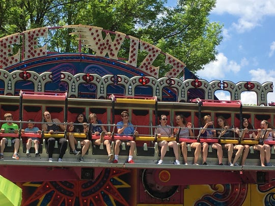 Celebrate De Pere attendees ride the Gee Wizz Saturday in Voyageur Park. The weekend family festival seeks to honor veterans and support local nonprofits.
