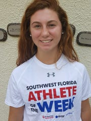 Sophie Shrader, a junior on the St. John Neumann girls golf team, is the Naples Daily News Athlete of the Week for Aug. 25-Sept. 1, 2018.