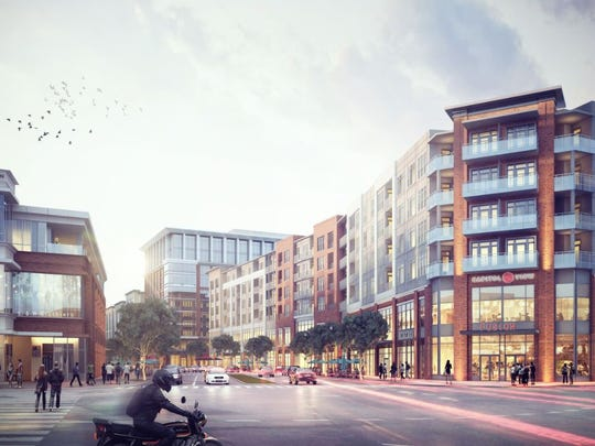 "A rendering of the project set to begin on ""Block D"" at Capitol View"