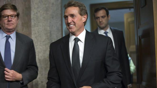 U.S. Sen. Jeff Flake continues to support Republicans' delay of Supreme Court confirmation hearings until after the November election.