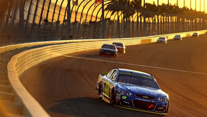 Jimmie Johnson's record-tying run in NASCAR's finale wasn't a big draw on TV.