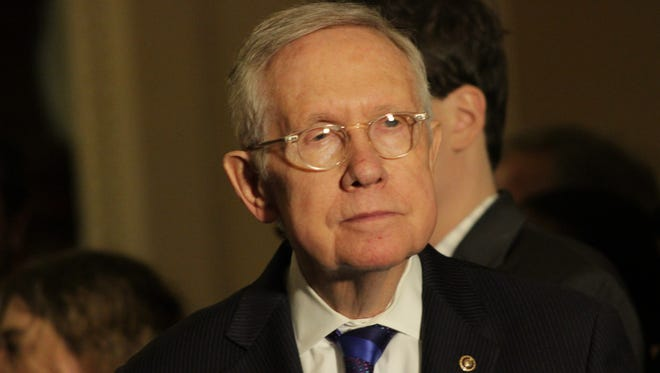 A photo of U.S. Sen. Harry Reid, D-Nev., who officially exited office Jan. 3.