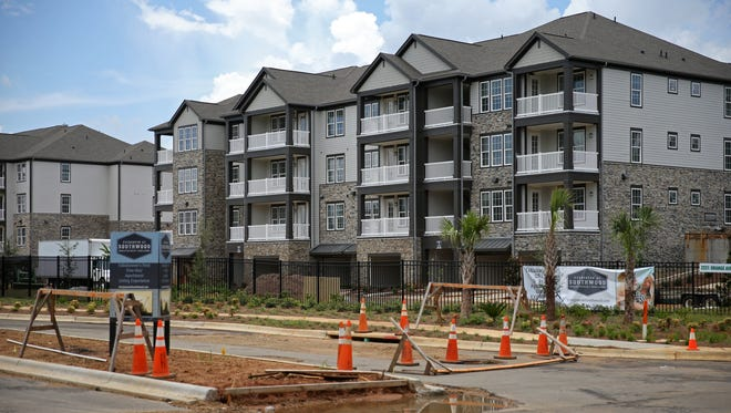 Evergreen at Southwood on Orange Ave. and Paul Russell Road, pictured Monday, is slated for completion this fall.