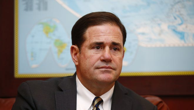 Arizona Gov. Doug Ducey is shown at Governor's Office at the state Capitol on May 8, 2017.