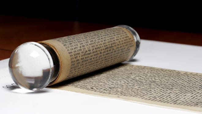 """A detail from Jack Kerouac's famous scroll, his first draft for the iconic novel """"On The Road"""""""