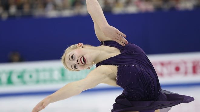 Gracie Gold of the USA performs during the Ladies Free Skating program of the ISU World Figure Skating Championships at Shanghai Oriental Sports Center in Shanghai, China, 28 March 2015.