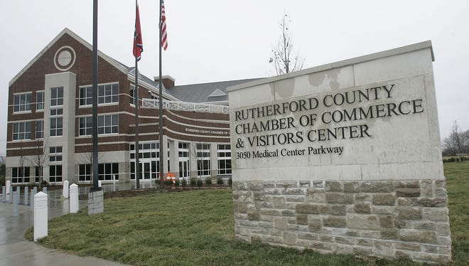The Rutherford County Chamber of Commerce and Visitor Center building is on Medical Center Parkway.