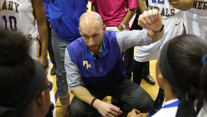 Head coach Craig Machut has led the Milwaukee King girls basketball team to a 20-0 record this season.