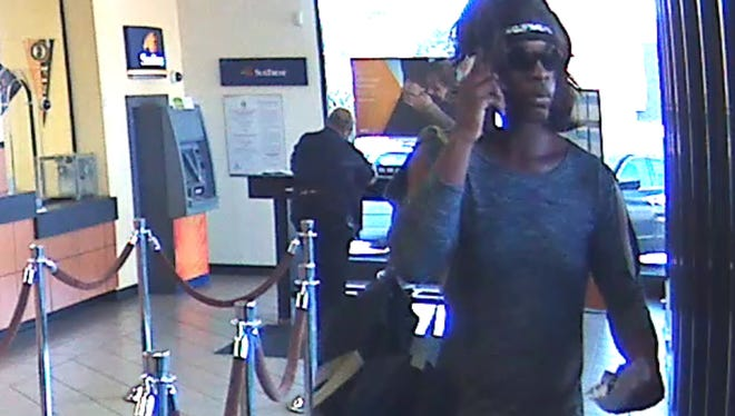 Authorities are seeking the public's help identifying a suspect who robbed a Suntrust Bank in Nashville Friday, Sept. 29.