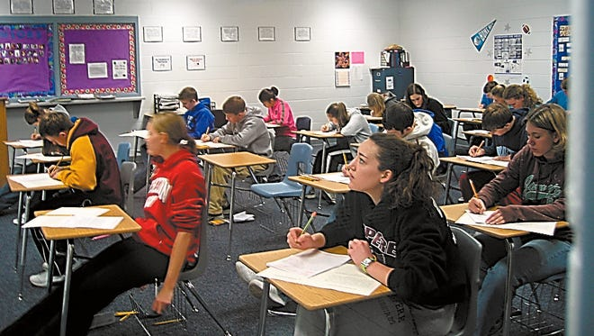 There would be no school report cards with results of tests taken by students this spring.