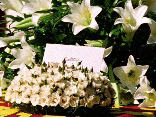 Flowers from Prince Harry and Prince William to their