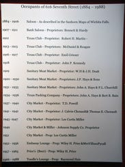 A list on the wall of Hook & Ladder Coffees & Winery