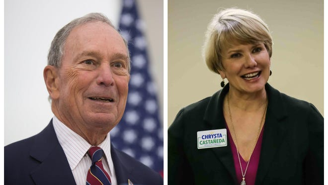 Michael Bloomberg contributed $2.6 million to Democrat Chrsya Castañeda's campaign for a seat on the Texas Railroad Commission. [Left: Ricardo Brazziell/AMERICAN-STATESMAN]