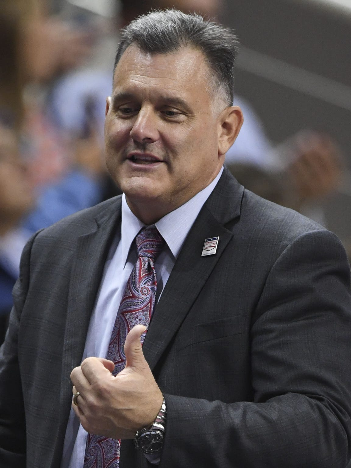 USA Gymnastics President Steve Penny during the women's gymnastics team trials in July 2016 in San Jose, California.