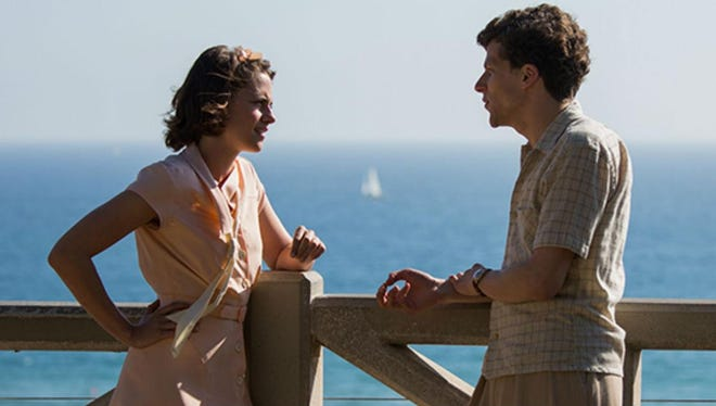 "Kristin Stewart Jesse Eisenberg star in the Woody Allen film ""Cafe Society."""