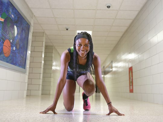 Lanae-Tava Thomas, a senior at Rush-Henrietta, is the AGR Girls Indoor Track and Field Athlete of the Year.