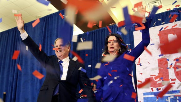 Alabama Senator-elect Doug Jones and his wife Louise