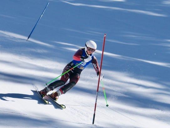 Mount Shasta High's Carter Chase won the girls ski