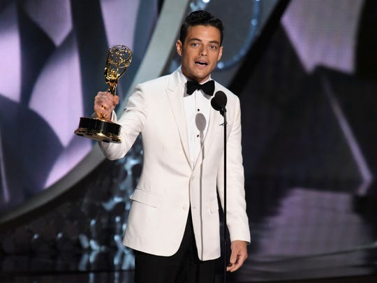 'Mr. Robot' star Rami Malek wins his first Emmy for