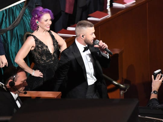 Justin Timberlake performs during the opening of the