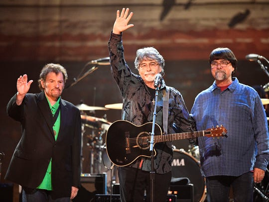 From left, Jeff Cook, Randy Owen and Teddy Gentry of