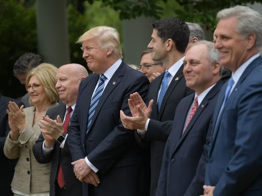 President Trump, Speaker Paul Ryan and other congressional
