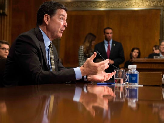 James Comey testifies before the Senate Judiciary Committee