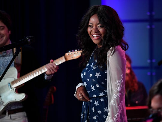 Ruby Amanfu performs with Steelism at the Music City