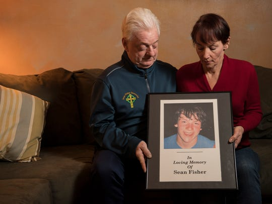 Jim and Sheila Fisher's son, Sean, died in 2008 after