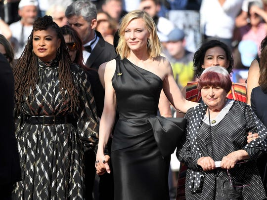 On Saturday Ava DuVernay, Cate Blanchett and French director Agnes Vardawere among those protesting the lack of female filmmakers honored throughout the history of the Cannes Film Festival.